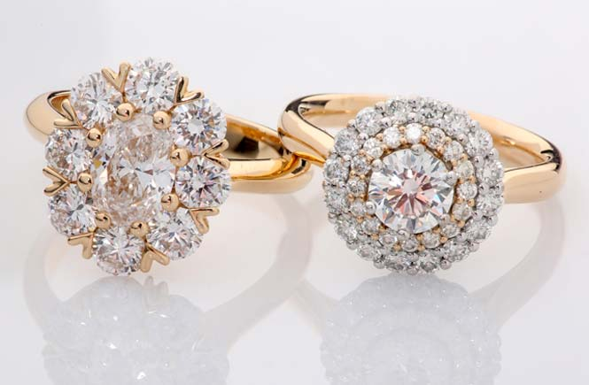 Halo Diamond Ring Collection at Bertoz Showcase Jewellers